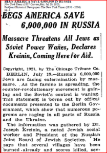 New York Times July 20, 1921